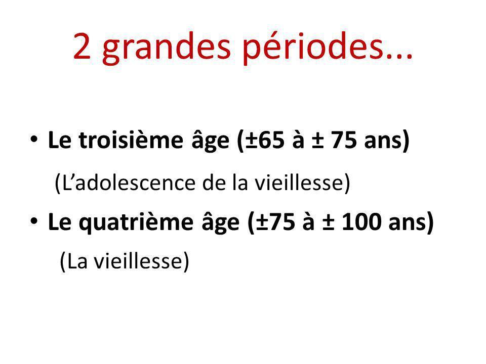 2 grandes périodes... (L'adolescence de la vieillesse)