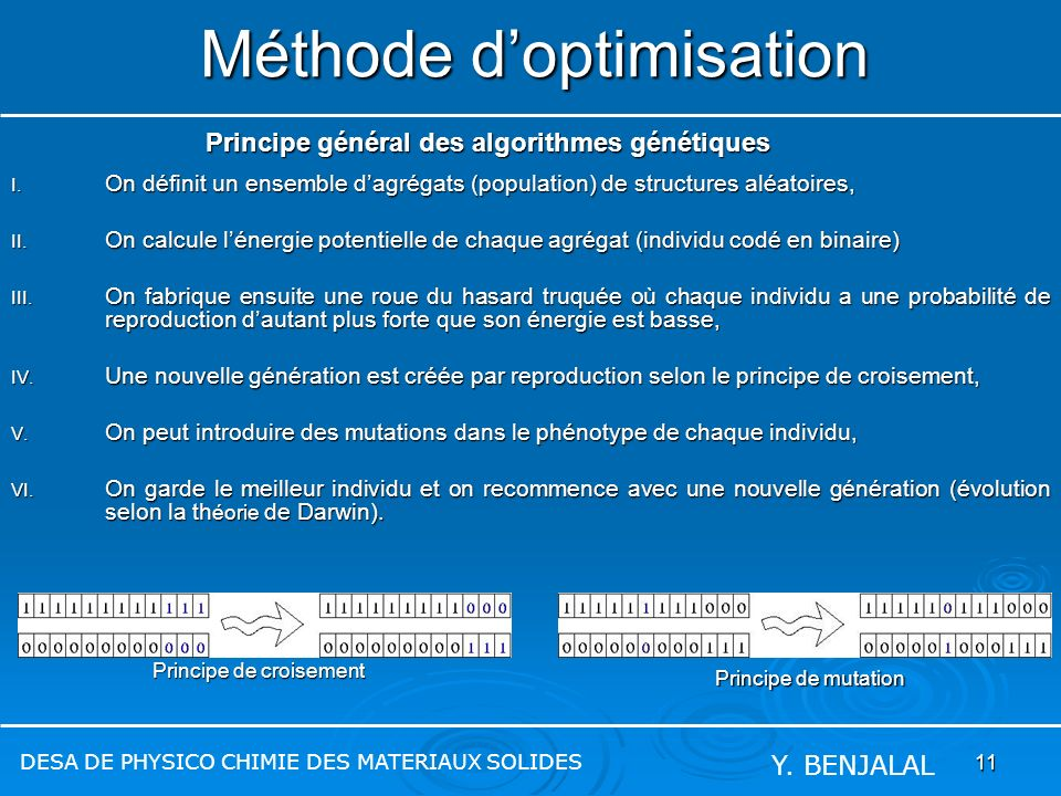 Méthode d'optimisation