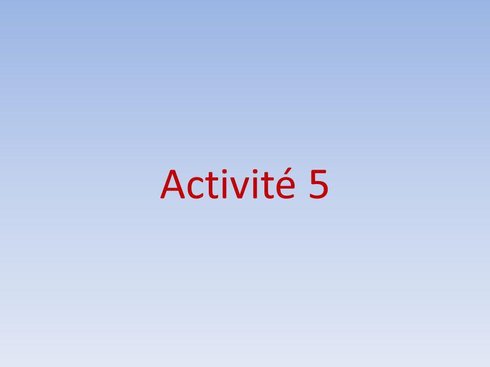 Activité 5