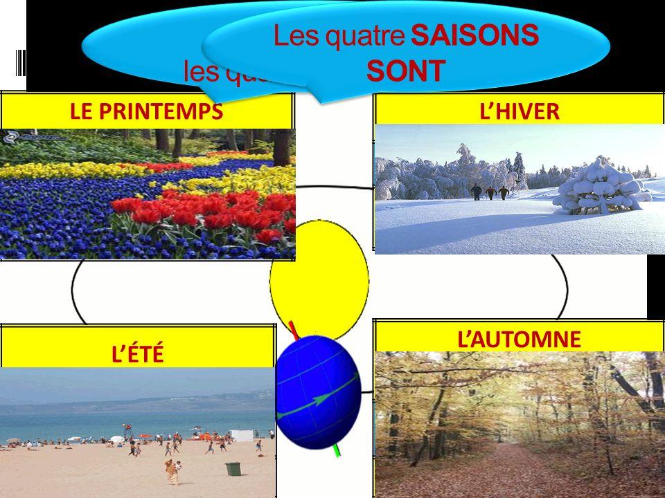 Quels sont les quatre saisons Les quatre saisons sont Le printemps