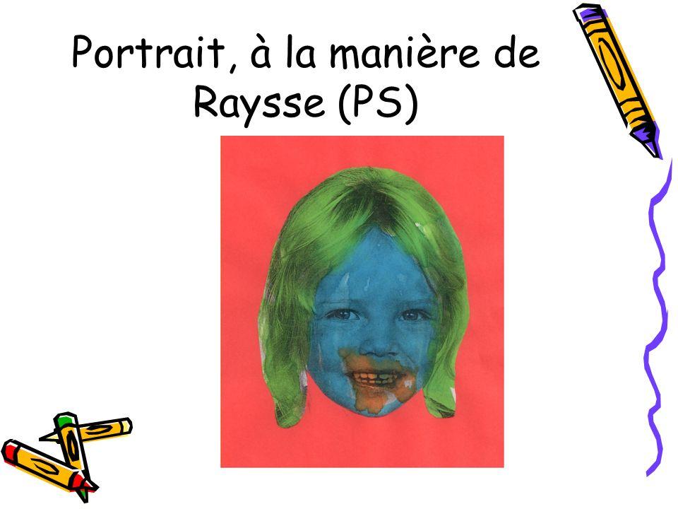 Portrait, à la manière de Raysse (PS)