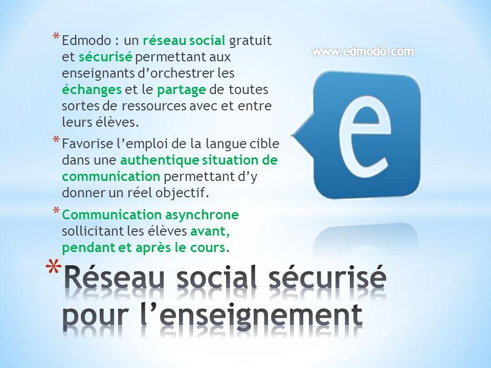 Réseau social sécurisé pour l'enseignement