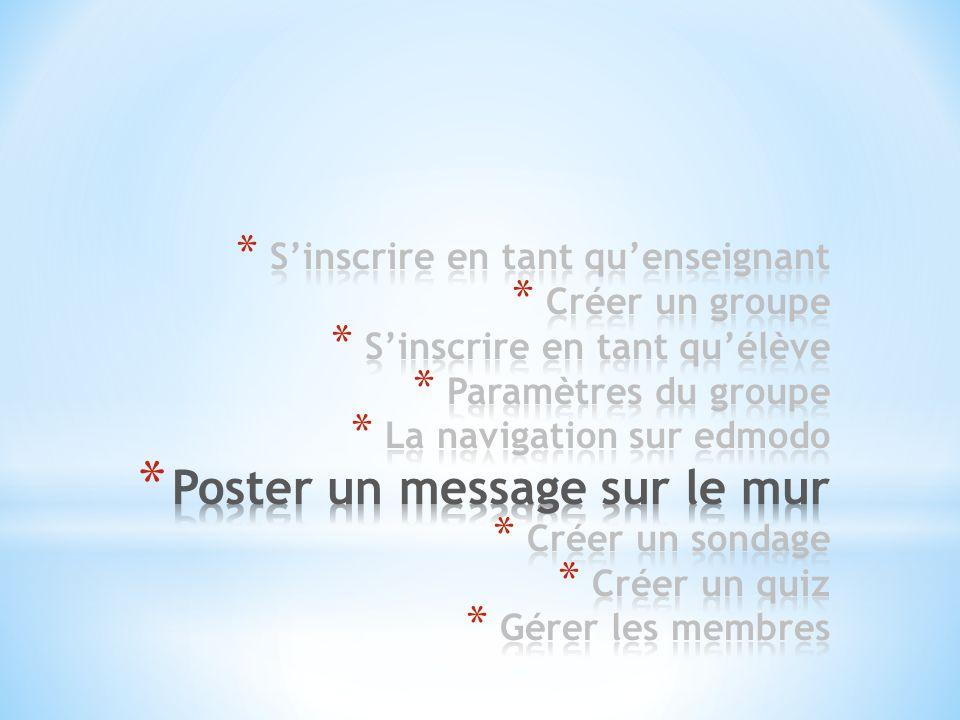 Poster un message sur le mur