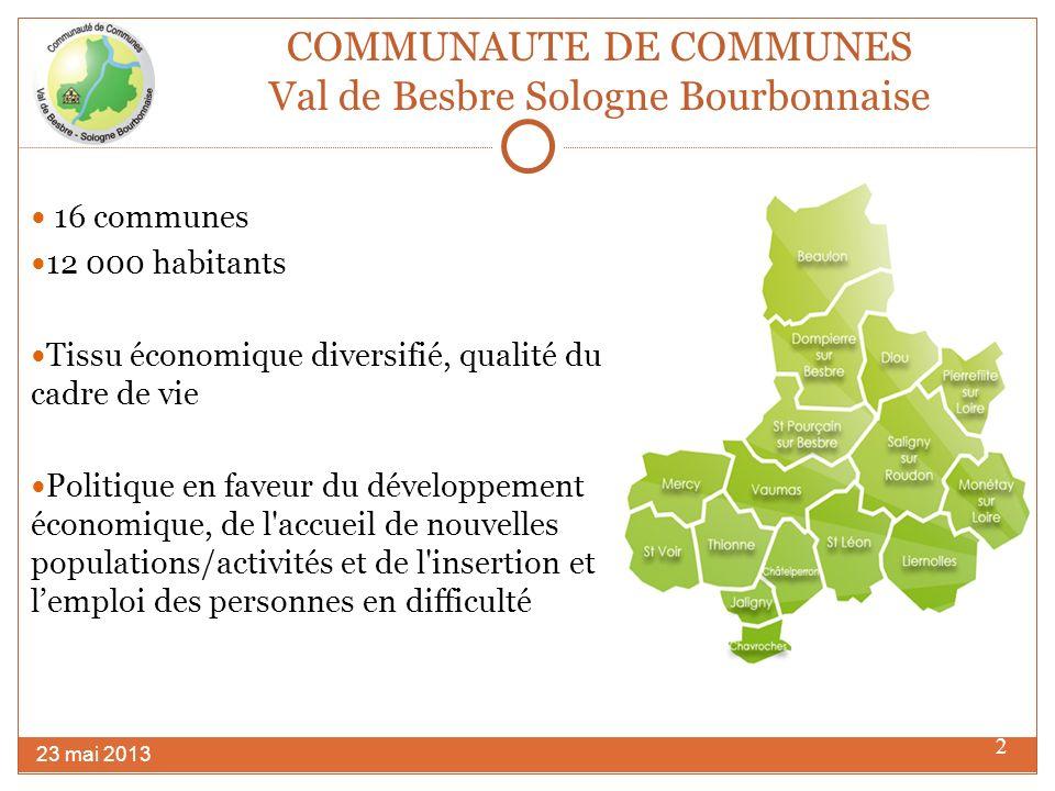 COMMUNAUTE DE COMMUNES Val de Besbre Sologne Bourbonnaise