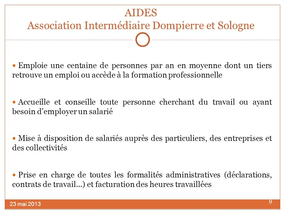 AIDES Association Intermédiaire Dompierre et Sologne