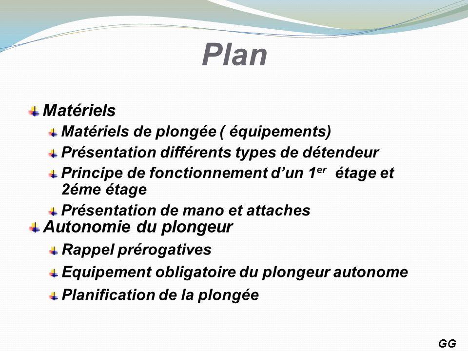 Plan Matériels Autonomie du plongeur