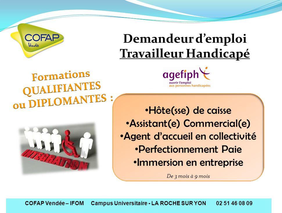 Travailleur Handicapé Formations QUALIFIANTES