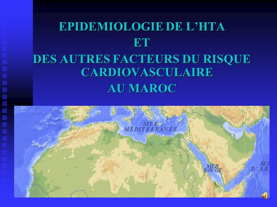 EPIDEMIOLOGIE DE L'HTA DES AUTRES FACTEURS DU RISQUE CARDIOVASCULAIRE