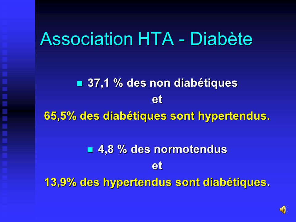 Association HTA - Diabète
