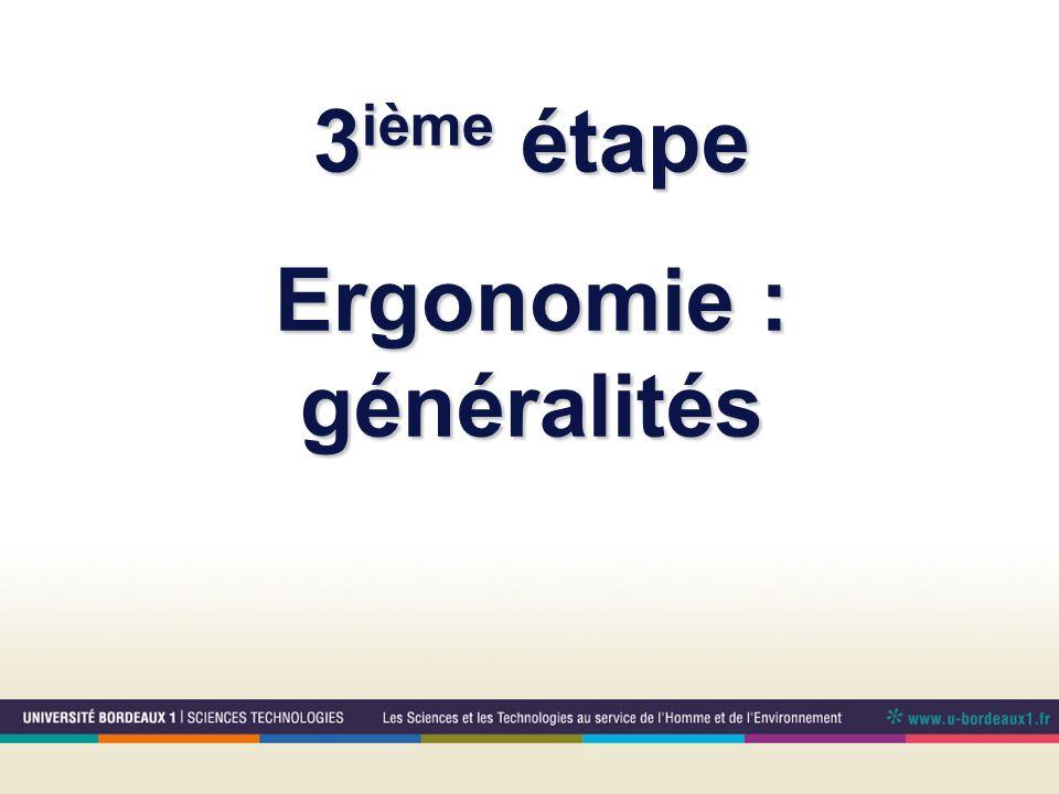 Ergonomie : généralités