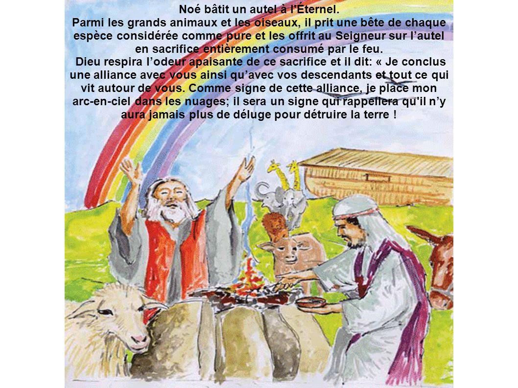 Noé bâtit un autel à l Éternel.