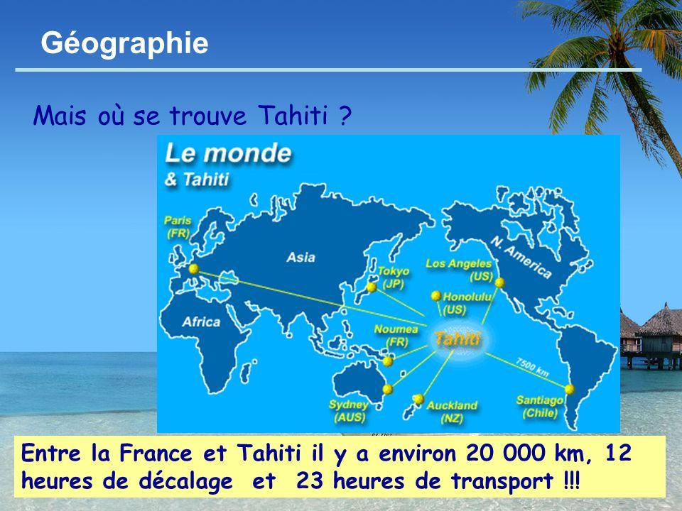 Géographie Mais où se trouve Tahiti
