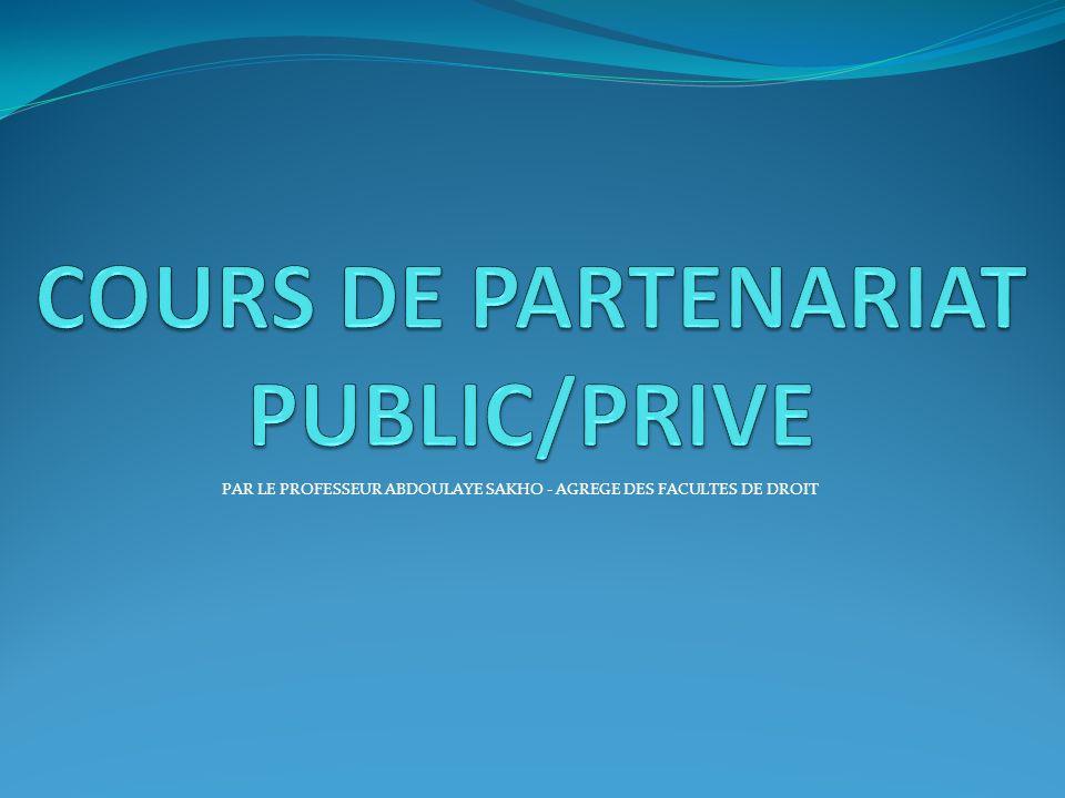 COURS DE PARTENARIAT PUBLIC/PRIVE