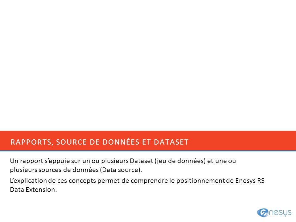 Rapports, Source de données et dataset