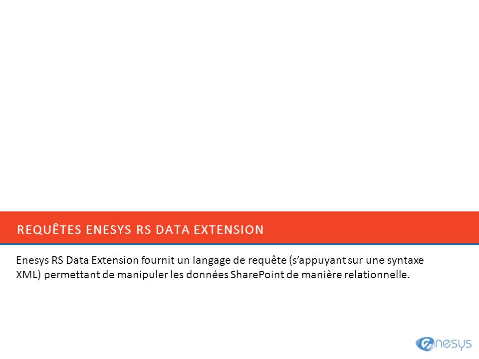 Requêtes Enesys rS Data extension