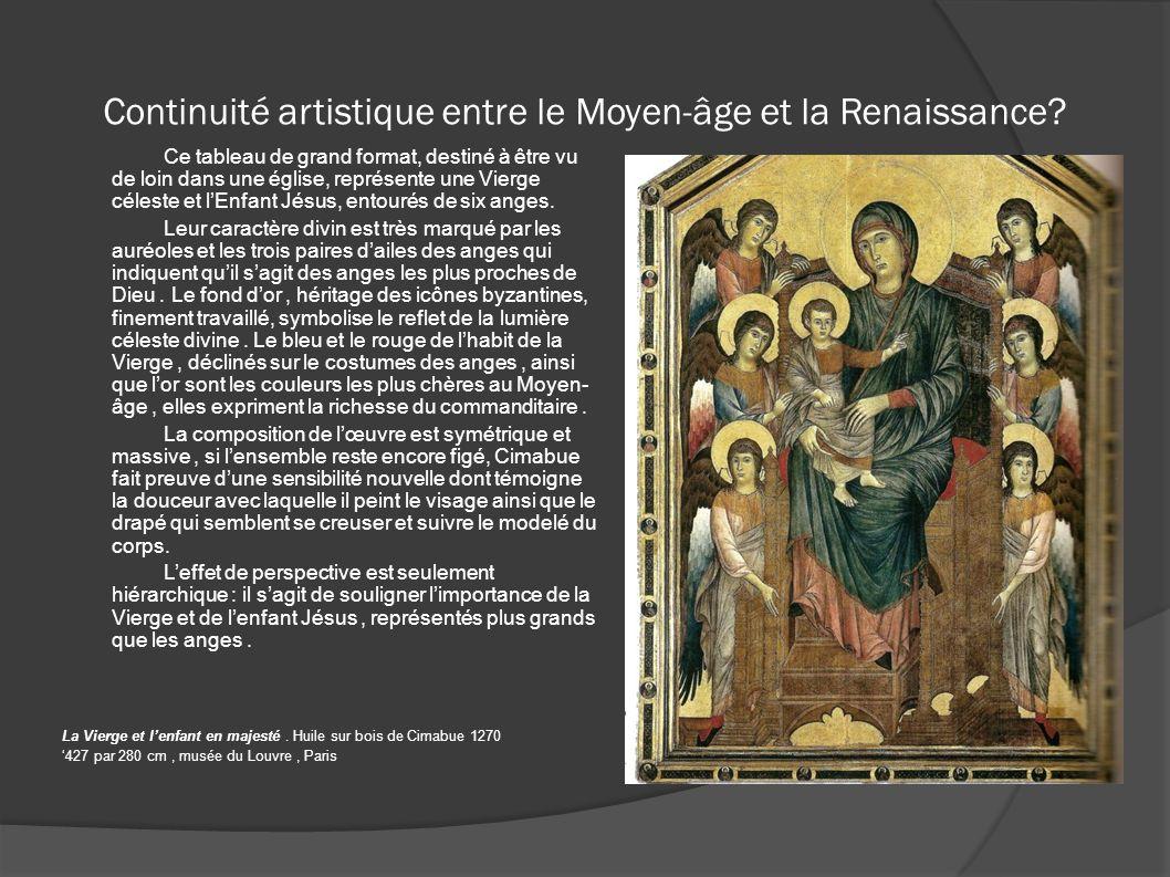 Continuité artistique entre le Moyen-âge et la Renaissance