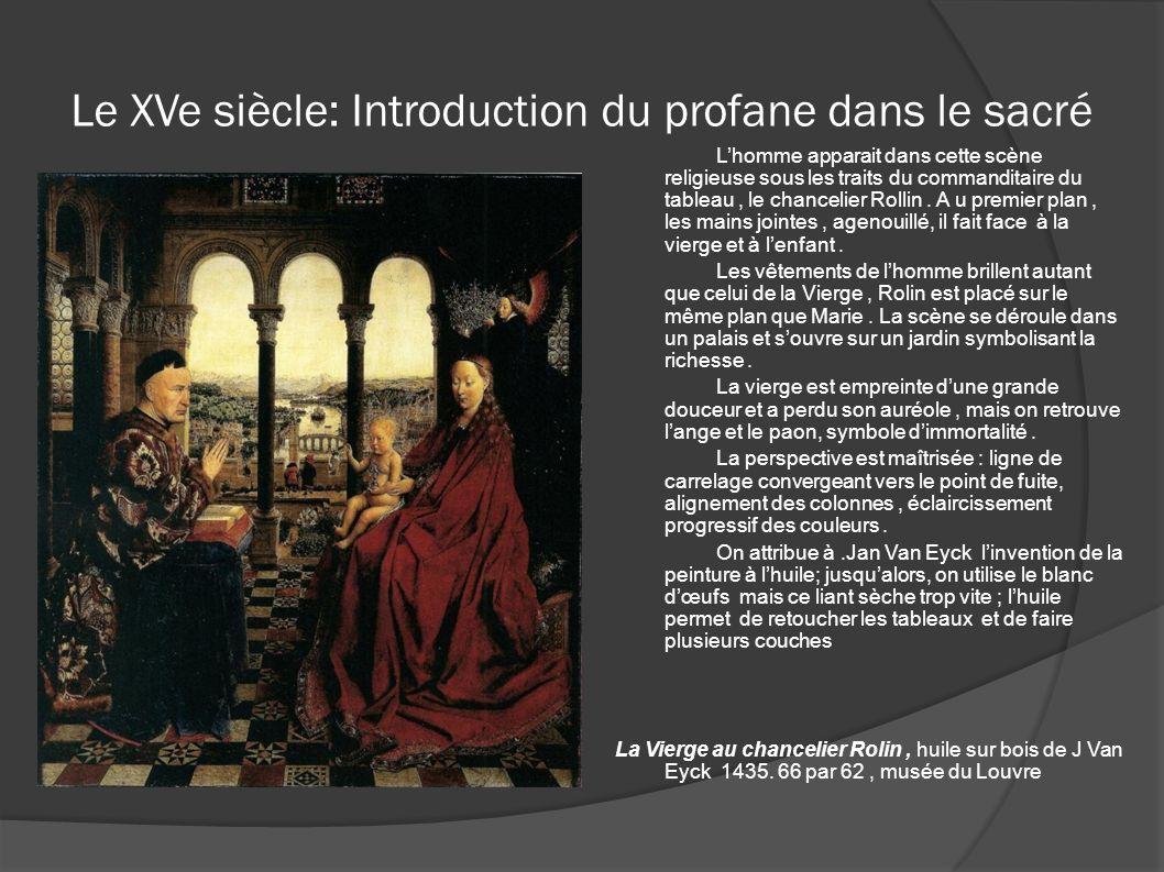 Le XVe siècle: Introduction du profane dans le sacré