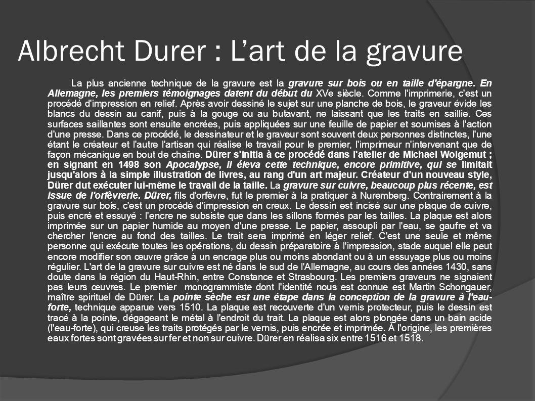 Albrecht Durer : L'art de la gravure