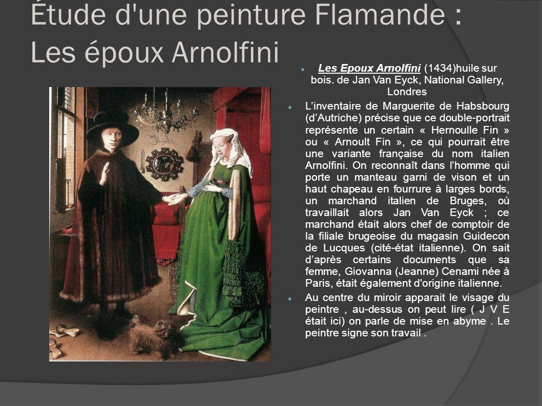 Étude d une peinture Flamande : Les époux Arnolfini