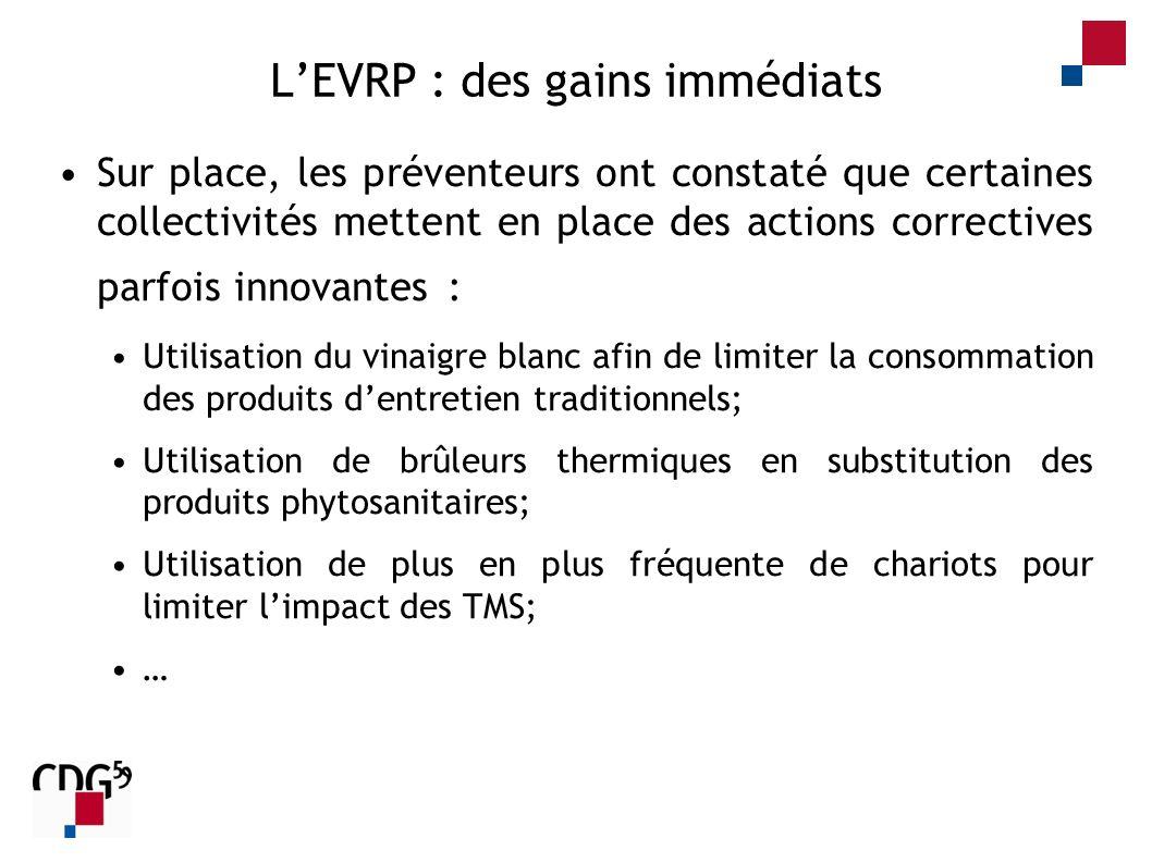 L'EVRP : des gains immédiats