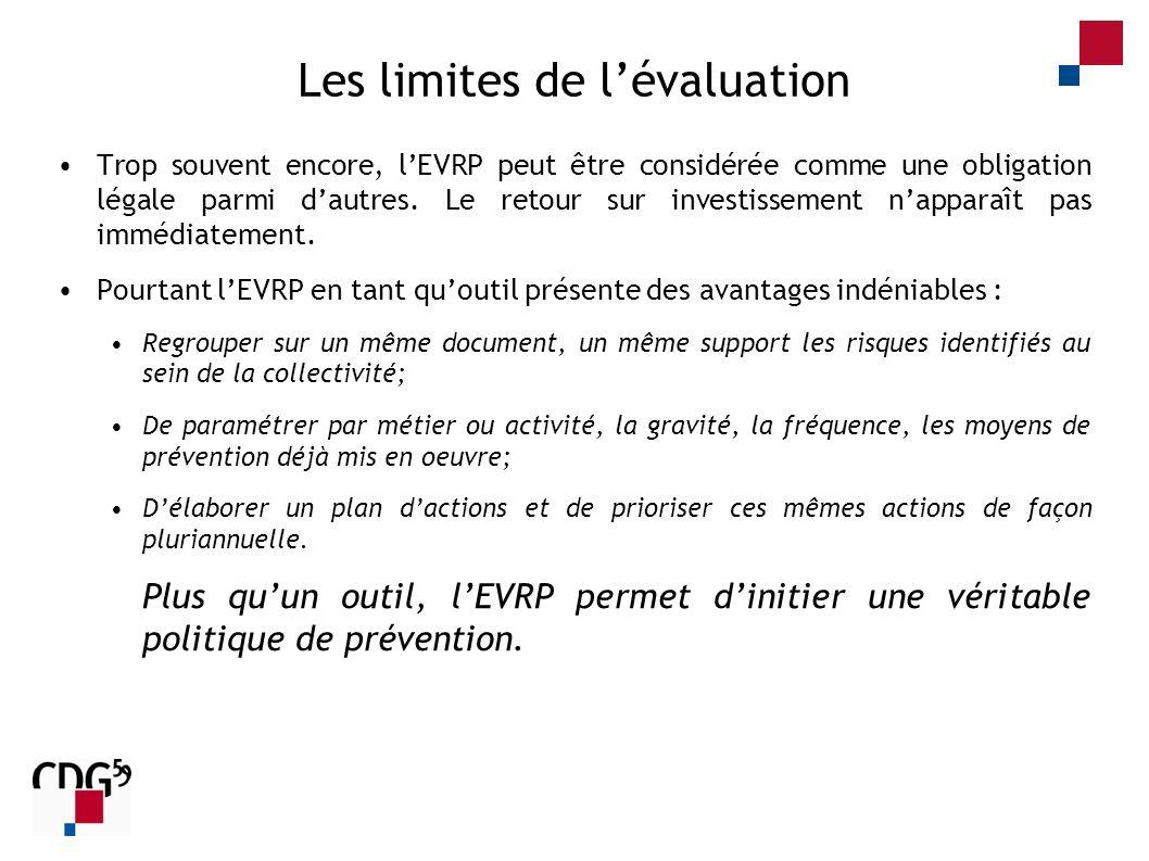 Les limites de l'évaluation