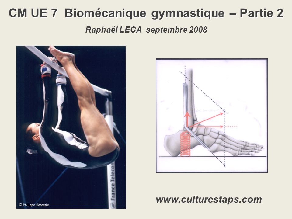 CM UE 7 Biomécanique gymnastique – Partie 2