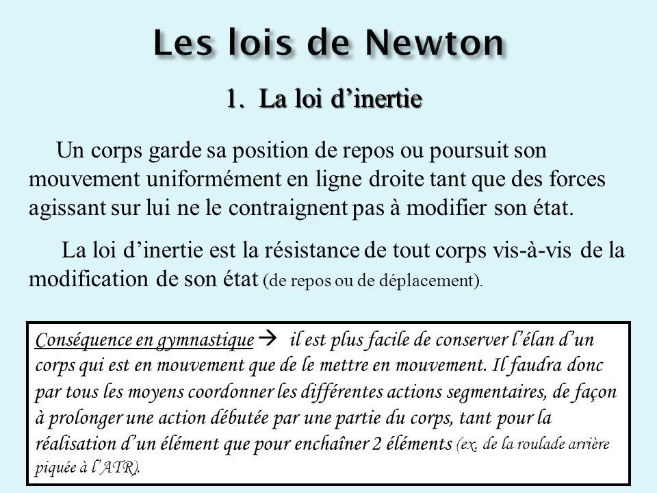 Les lois de Newton 1. La loi d'inertie