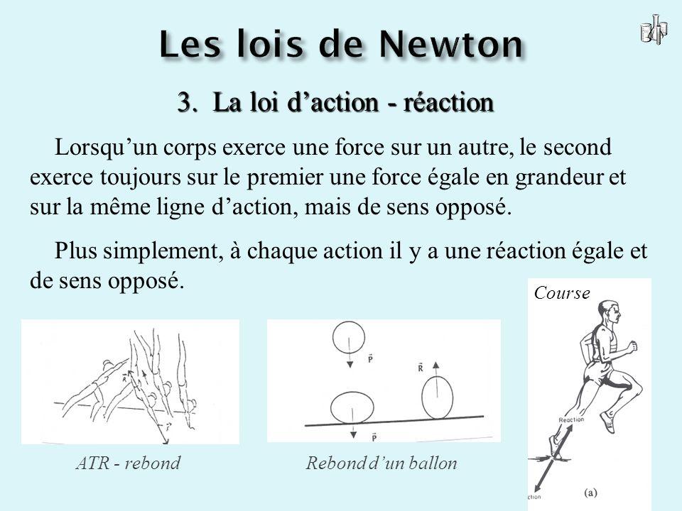 3. La loi d'action - réaction