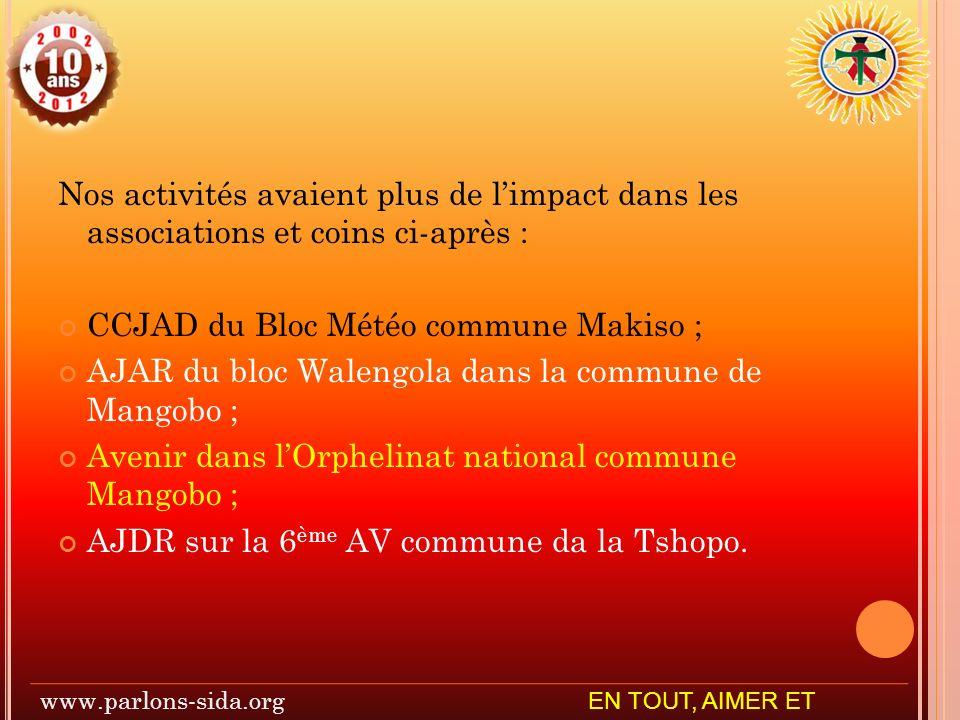 CCJAD du Bloc Météo commune Makiso ;
