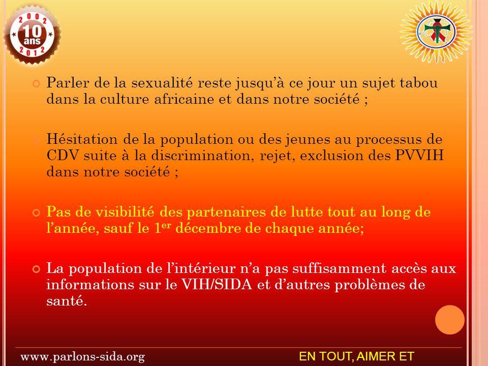 www.parlons-sida.org EN TOUT, AIMER ET SERVIR
