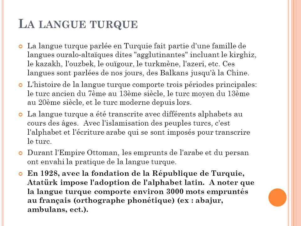 La langue turque