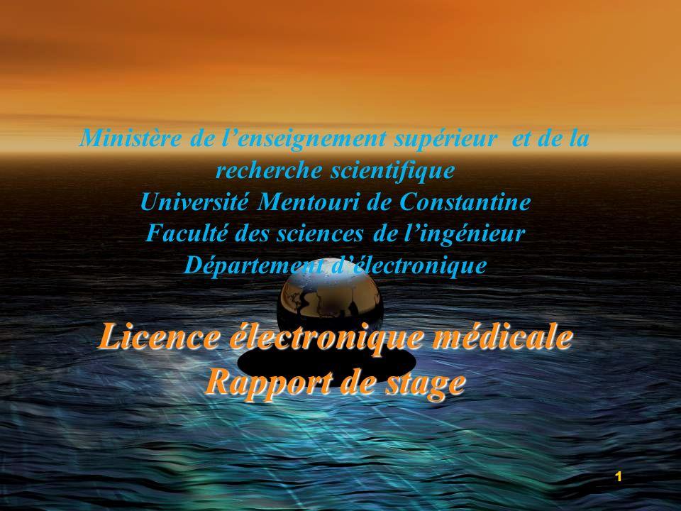 Licence électronique médicale Rapport de stage