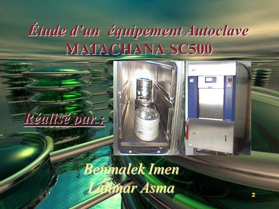 Étude d'un équipement Autoclave MATACHANA SC500