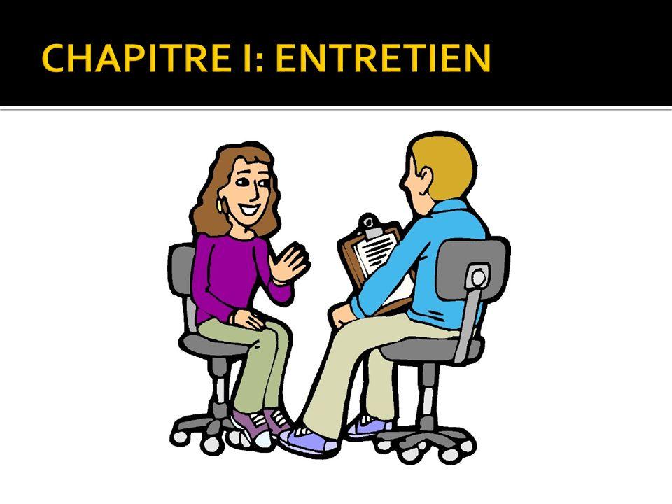 CHAPITRE I: ENTRETIEN