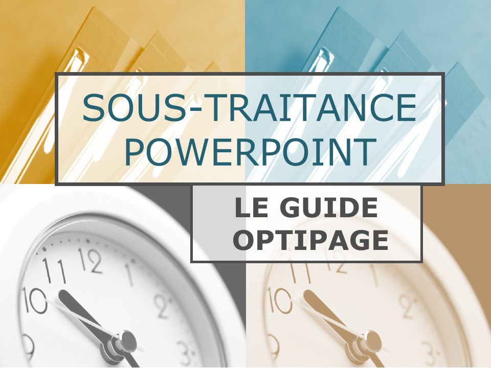 SOUS-TRAITANCE POWERPOINT