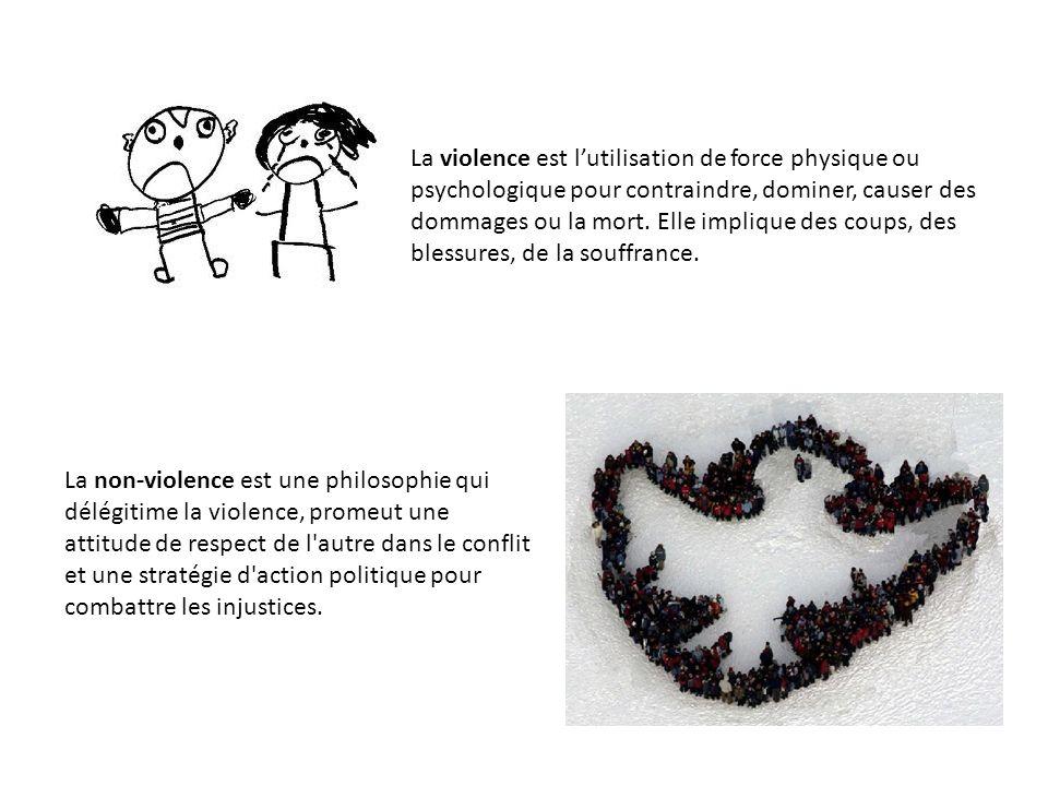 La violence est l'utilisation de force physique ou psychologique pour contraindre, dominer, causer des dommages ou la mort. Elle implique des coups, des blessures, de la souffrance.
