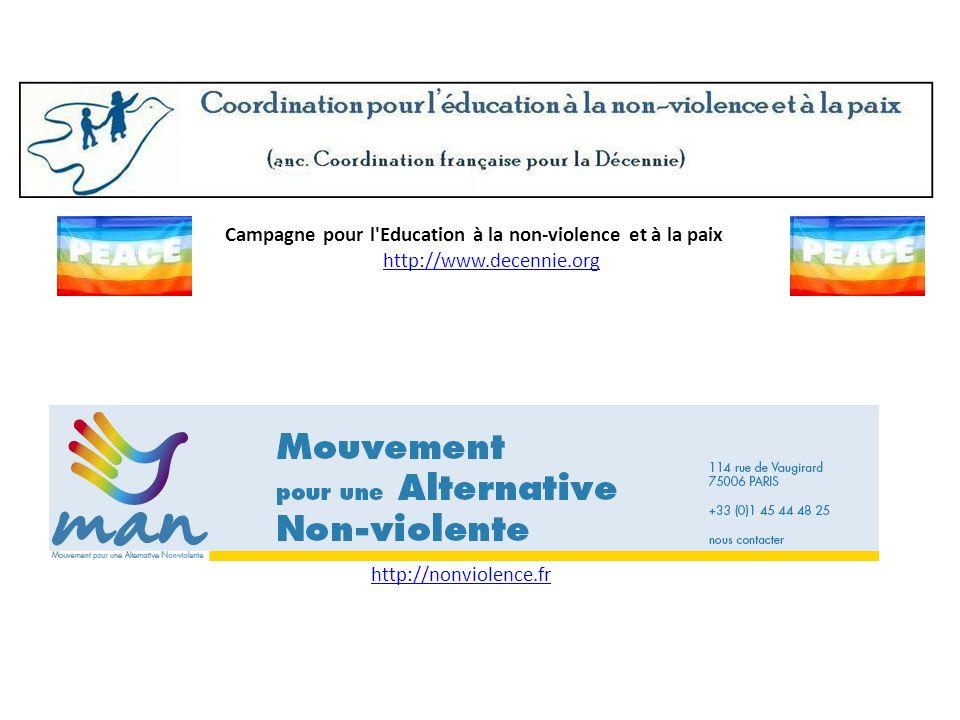 Campagne pour l Education à la non-violence et à la paix