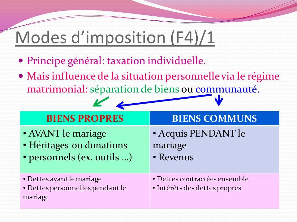Modes d'imposition (F4)/1