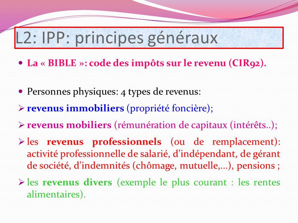L2: IPP: principes généraux