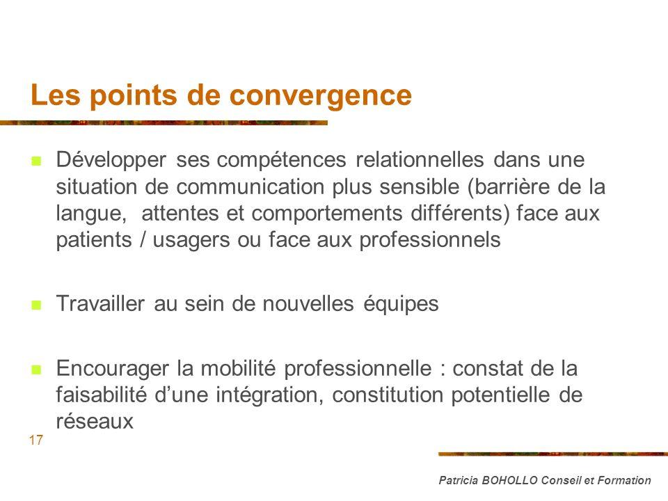 Les points de convergence