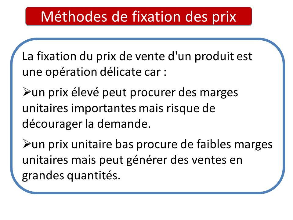 Méthodes de fixation des prix