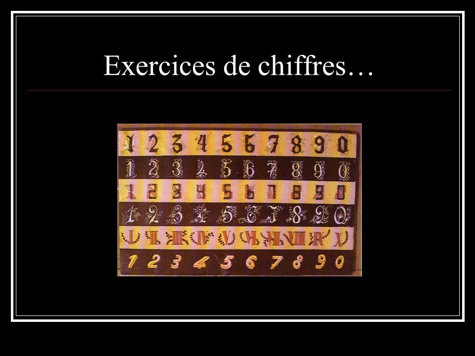 Exercices de chiffres…