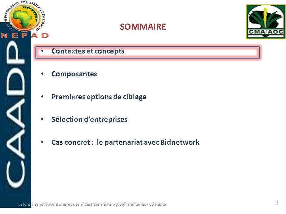 SOMMAIRE Contextes et concepts Composantes