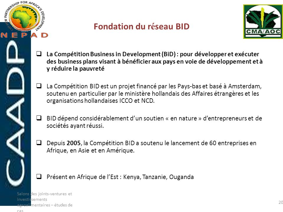 Fondation du réseau BID