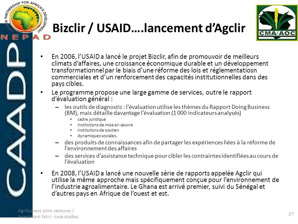 Bizclir / USAID….lancement d'Agclir