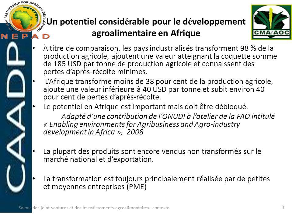 Un potentiel considérable pour le développement agroalimentaire en Afrique