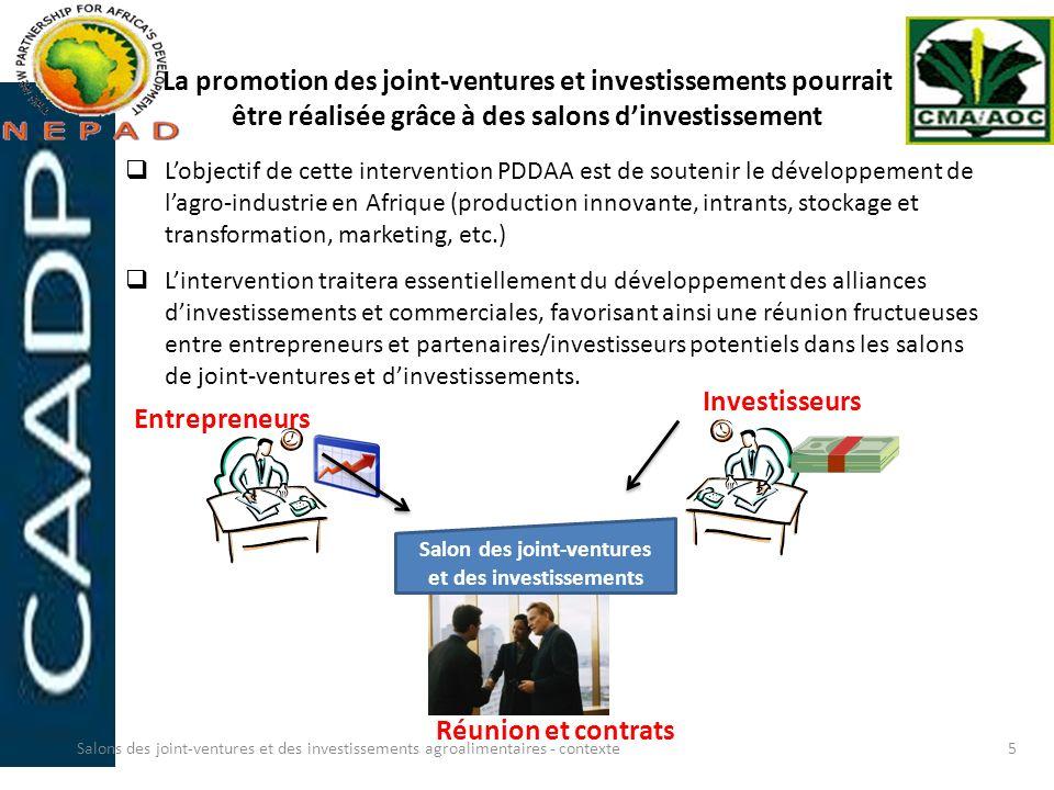 Salon des joint-ventures et des investissements