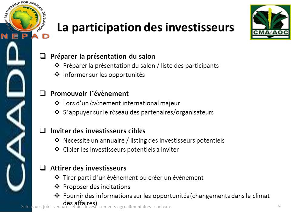 La participation des investisseurs
