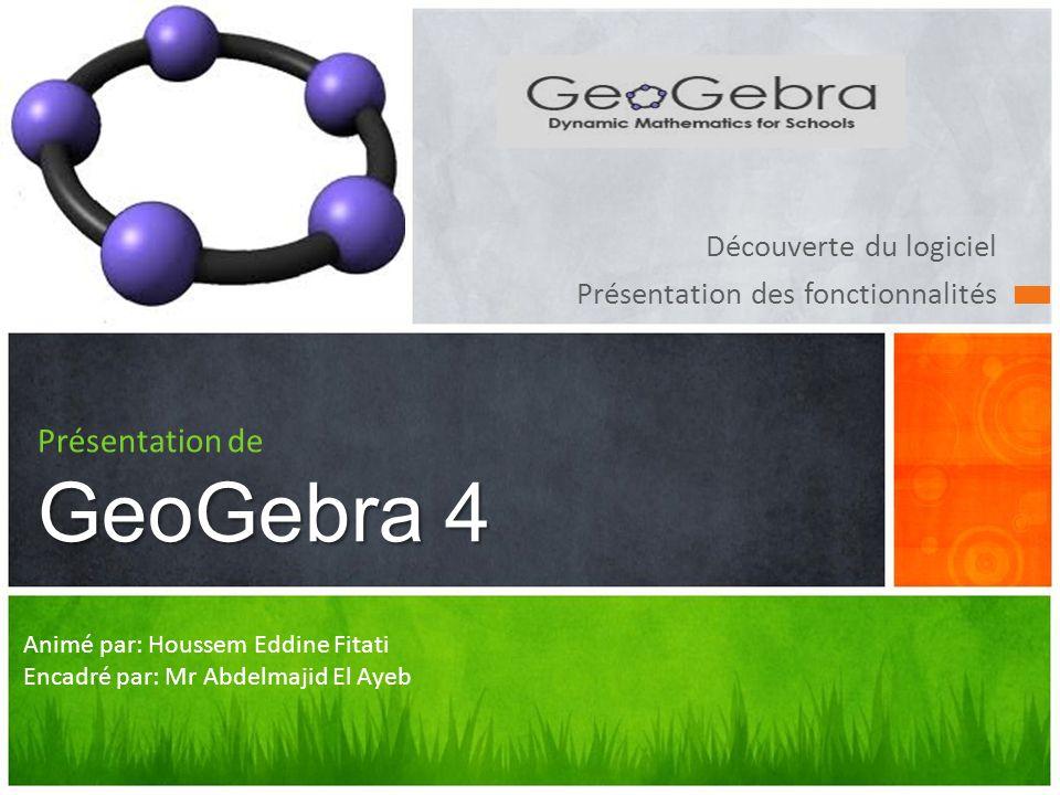 Présentation de GeoGebra 4