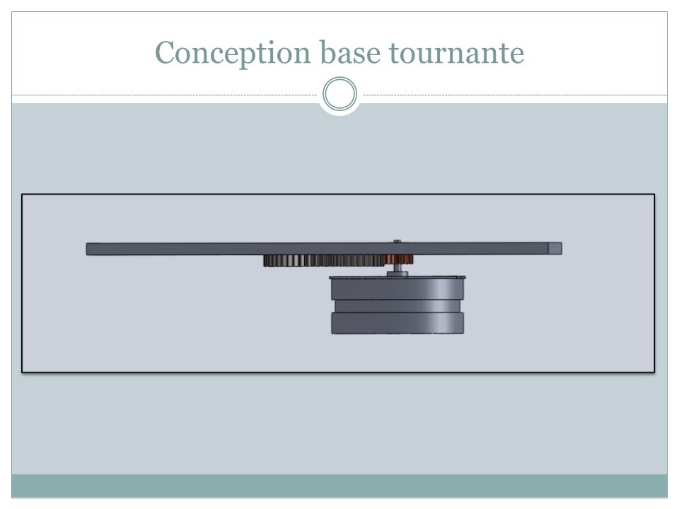 Conception base tournante